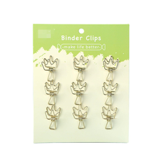 9PCS Hollowed Bill Long Tail Clips Office Holder Stationery Fish Clip Book Folder Paper Notes Letter Clamps Storage Binding