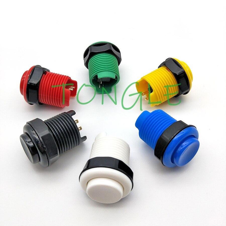 10 шт./лот 28 мм устанавливаемая аркадная игровая машина Happ длинная кнопка в американском стиле с микропереключателем доступны разные цвета