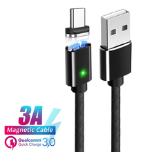 3A Fast Magnetic USB Cable Type C Micro Quick Charging Sync Data Mobile Phone Cables Super Charge Cord Charger Wire