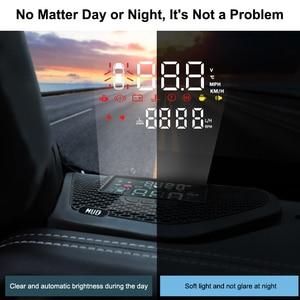 Image 5 - QHCP Auto Head Up Display HD Schermo Del Proiettore HUD Velocità Eccessiva Allarme Rivelatore Nascosto Multifunzione Per Jeep Wrangler 18 JL 19