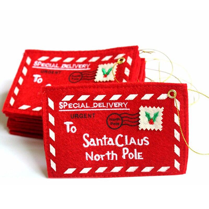 Рождественская елка украшения Санта-карты вышивка конверт Рождественское украшение подвеска домашние подвесные украшения для вечеринки К...