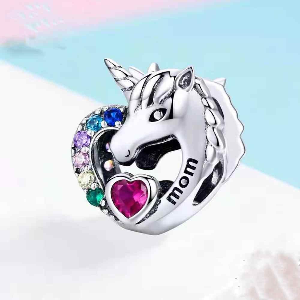 Envío Gratis regalo de Halloween original calavera sirena flor hoja corona diy cuenta Ajuste Original Pandora encantos pulsera S055