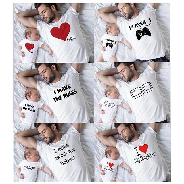 Père et fils meilleurs amis pour la vie famille correspondant Look de famille t-shirt bébé papa correspondant vêtements père et fils correspondant