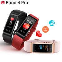 Original Huawei Band 4 Pro Smart muñequera caras de reloj innovador GPS independiente Monitor de salud proactivo SpO2 oxígeno en sangre