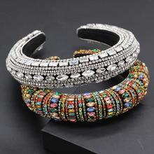 Individual luxury color rhinestones exaggerated headband American luxury colored rhinestones wild gorgeous headband 750