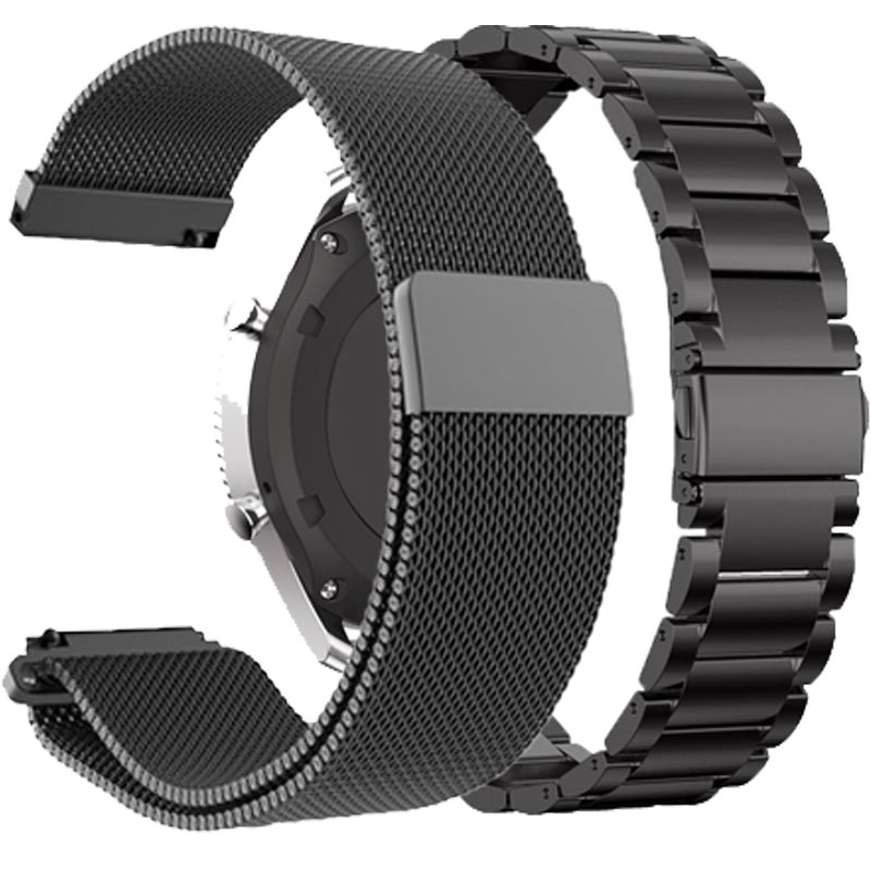 22MM Stainless Metal Strap For Xiaomi Huami Amazfit Stratos 3 2/2S <font><b>Smart</b></font> <font><b>Watch</b></font> <font><b>Band</b></font> Replace Bracelets For Amazfit Pace GTR 47MM image