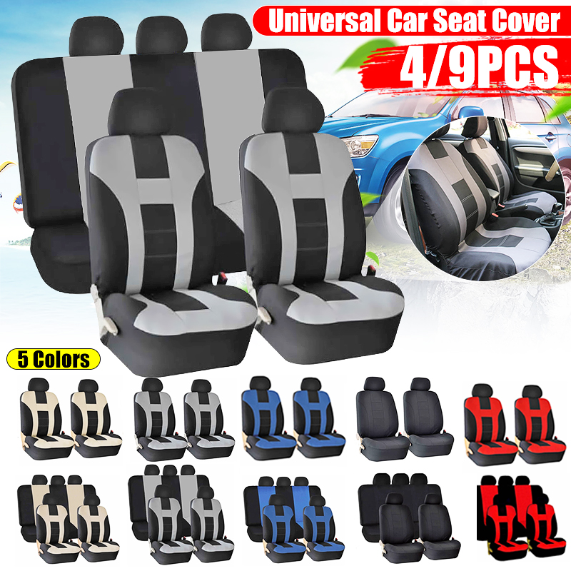Car Seat Covers 4 9pcs Compatible Fit Most Car Truck Suv Or Van 100 Breathable With Composite Sponge Polyester Cloth Automobiles Seat Covers Aliexpress