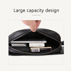 Image 5 - Bel çantası erkekler çok cep rahat Fanny çantası para telefonu bel çantası 100% hakiki deri inek derisi omuz kemer paketi