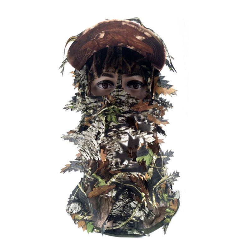 3D Stereo Camouflage Facial Mask Sheet Turkey Hunting Mask Hat Balaclava Full Forest CS Facial Mask Hot - Цвет: A2