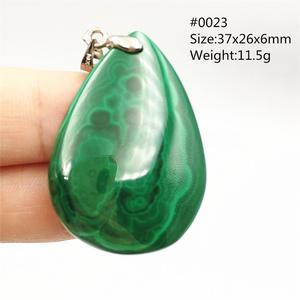 Image 5 - 100% Natuurlijke Groene Malachiet Chrysocolla Hanger Vrouwen Mannen Edelsteen Crystal Healing Stone Ketting Hanger Aaaaa