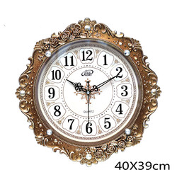 European Large Wall Clock Retro Living Room Wall Clock Luxury Bedroom Creative Antique Relol Para Casa Home Decor DD55WC