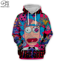 New anime Funny Rick and Morty 4 3D print Men Hoodie women trippy skull Sweatshirt unisex terror zipper jacket pullover tshirt