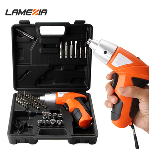 LAMEZIA Adjustable 4.8V Mini Electric Screwdriver Rechargeable Automatic Screw Driver Hand Drill Multi-function Power Tool