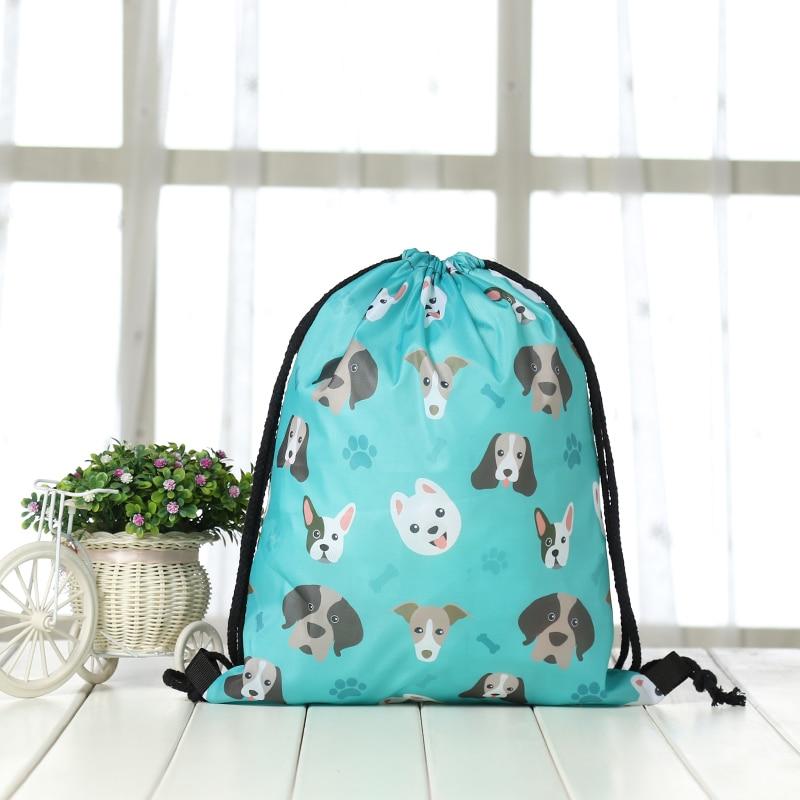 Drawstring Backpack Fashion Women 3D Printing Travel Softback Men Casual Bags Unisex Women's Shoulder Drawstring Sport Bag  New