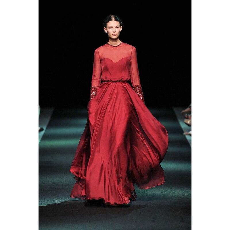 robe de soiree chiffon long sleeve beach evening elegant formal gown 2018 beading vestido de festa mother of the bride dresses