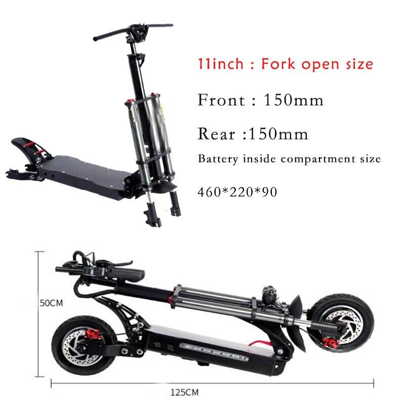 Профессиональная амортизирующая рама для скутера 8/10/11 дюймов, двойная рама из алюминиевого сплава, рама для электрического скутера