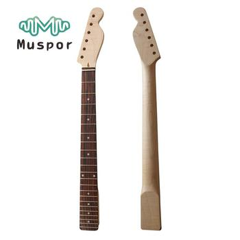 Muspor Electric Guitar Neck Maple 21 Frets Rosewood Fingerboard for Fender TL Tele Guitar Replacement Accesories 22 frets electric guitar maple neck rosewood fingerboard for fender strat st guitar parts accessories