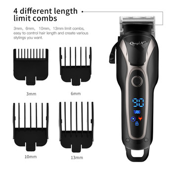 цена на 100-240V rechargeable hair trimmer professional Barber hair clipper shaving machine cordless cut beard electric haircut razor 49