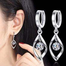 NEHZY – boucles d'oreilles en argent sterling 925 pour femmes, nouveaux bijoux de mode, haute qualité, cristal rétro, creux long, à la mode