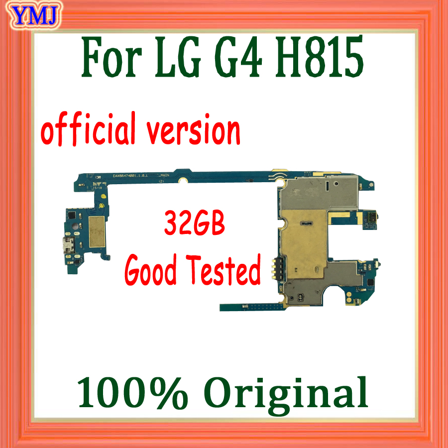 100% Original for <font><b>LG</b></font> G4 <font><b>H815</b></font> <font><b>Motherboard</b></font> with Full Chips,32gb for <font><b>LG</b></font> G4 <font><b>H815</b></font> Logic board with Android System,Free Shipping image