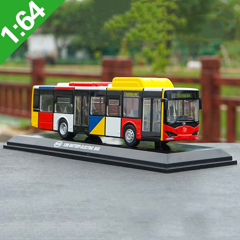 1/64 scale alloy simulation diecast K9 bus model metal K8 pure electric bus model BYD Guangdong bus model child gift collection
