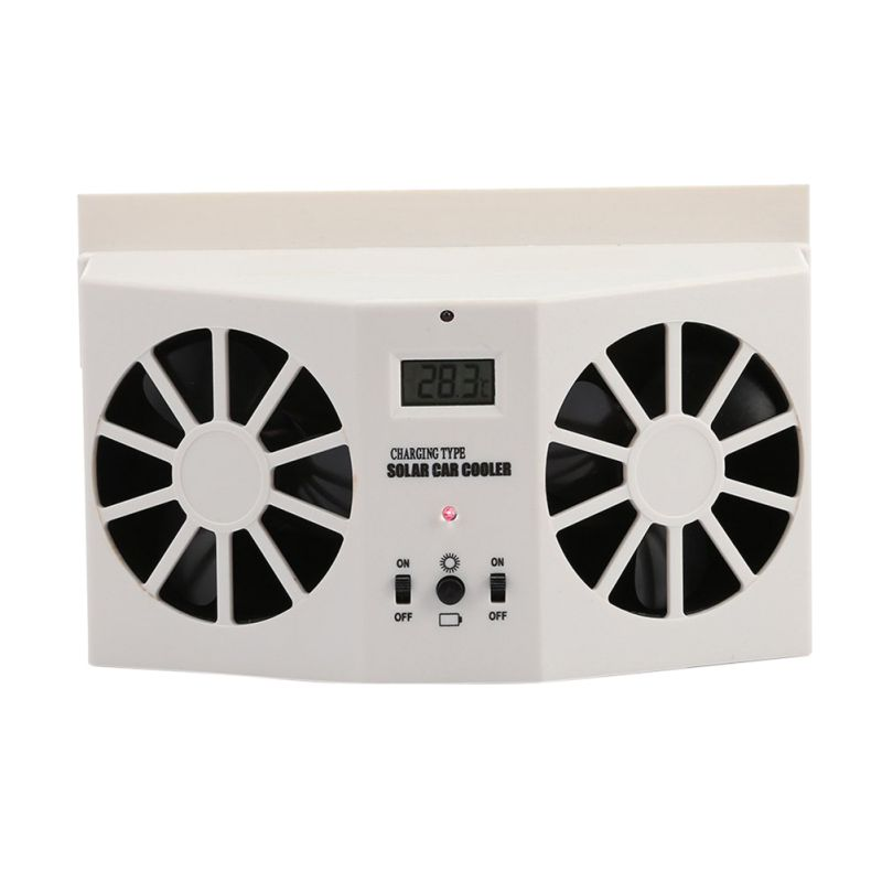 ONEWELL 2 Colors High power Car Solar Powered Exhaust Fan Car Gills Cooler Auto Ventilation Fan Dual mode Power Supply