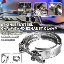 """Autoleader """" 2,5"""" """" 3,5"""" """" автомобиль, мотоцикл алюминиевый фланец V зажим для выхлопной трубы V-band алюминиевые Vband зажимы"""