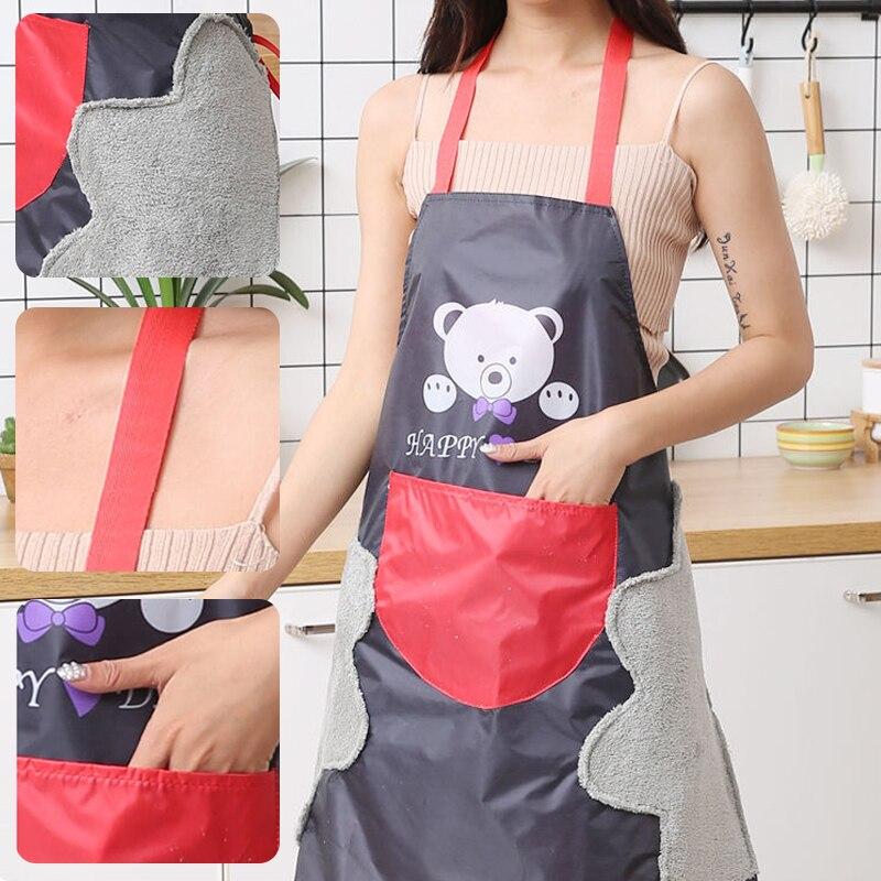 Tablier de cuisine pour enfants, effacé à la main, dessin animé, tablier étanche