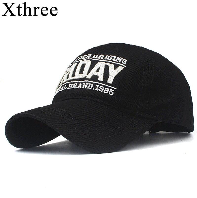 Xthree Cotton Baseball Cap Women Embroidery Friday Cap Snapback Hat For Men Casquette Homme Gorras Bone Cap For Women