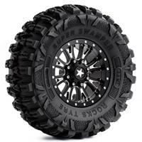 INJORA 4Pcs 2.2 Beadlock CNC Aluminum Alloy Wheel Rim for 1/10 RC Crawler Car Traxxas TRX-6 Axial SCX10 90046 Wraith RR10 5