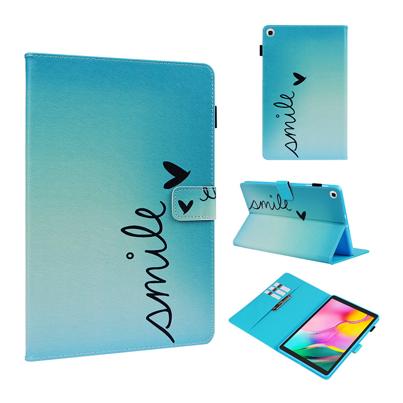 Case For Samsung Galaxy Tab A 10.1 2019 T510 T515 SM-T510 SM-T515 Cover Funda Tablet Painted Stand Shell For Samsung Tab A 10.1