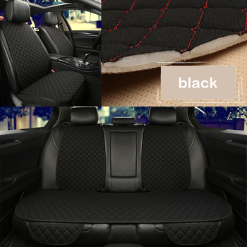 Comfortable breathable Flax car seat cover front or rear protector is suitable for 98% model car accessories automotive goods