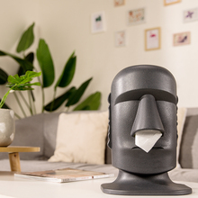 Creative Tissue Box Easter Island Shape Decoration Tissue Storage Box Drawing Stone Personalized Household Tissue Box
