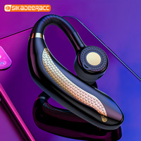 HJ911 Wireless Earphone Handsfree Bluetooth Single Ear Car Earbuds Portable Business Microphone Headsets Stereo Sound For iPhone