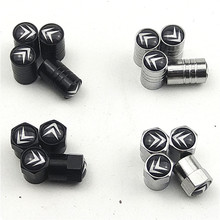 4 шт., 6 видов колпачков на клапаны автомобильных шин, колпачки для защиты воздуха на колесах для Citroen C4, C5, C3, C2, C1, C4L, Picasso, Saxo, аксессуары для авт...