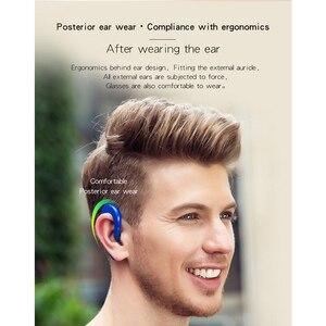 Image 3 - Écouteurs intra auriculaires sans fil Bluetooth, Design confortable, V6, oreillettes authentiques, avec crochets, suppression du bruit