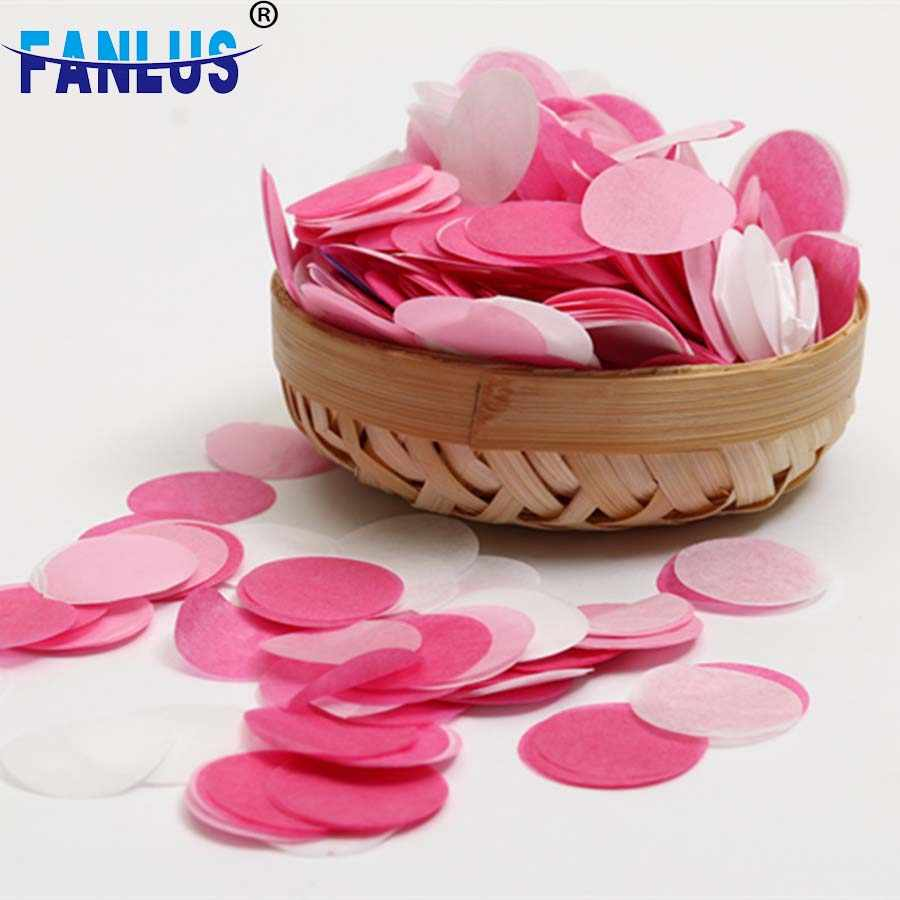 30 G/zak 1 Inch (2.5 Cm) heldere Kleuren Gemengde Roze Wit Ronde Tissue Papier Confetti Wedding Party Tabel Decoraties Baby Shower