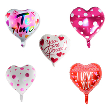 1pc 18inch I Love You Heart Helium Balloons Wedding Decorations Globos Happy Birthday Party Adult Supplies