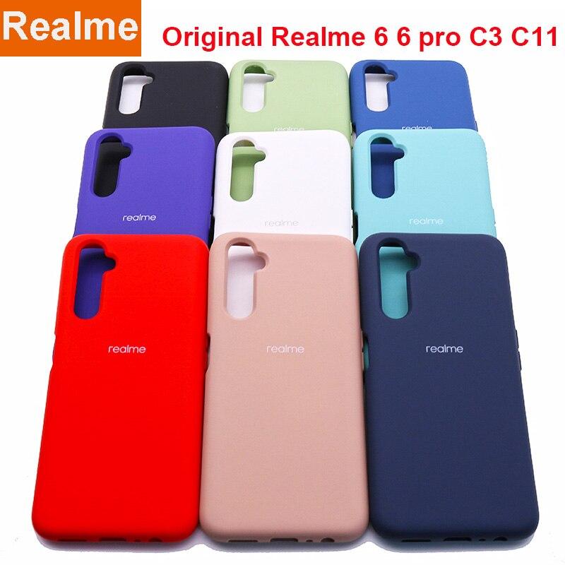Чехол Realme 6, Оригинальный чехол Realme6 6 pro, шелковистый силиконовый чехол, высококачественный мягкий на ощупь защитный чехол Realme C3 C11