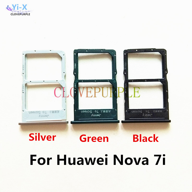 1pcs New SIM Card Slot Holder Adapter for Huawei Nova 7i Replacement Parts