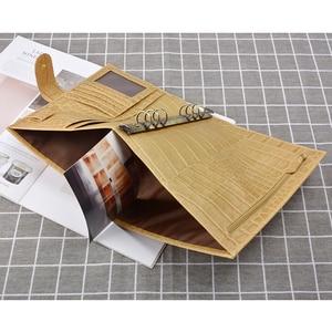 "Image 5 - 175x110 מ""מ גודל נייד מחברת עור אמיתית בעבודת יד Sketchbook מחברת נוסעי יומן כתב עת מתכנן vintage סגנון"