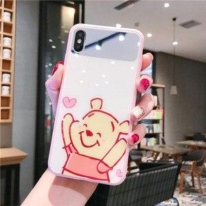 Image 5 - New mirrored gehärtetem glas telefon fall für iPhone X XS XR XSMax 8 7 6 6S PluS cartoon muster nette tropfen schutz abdeckung