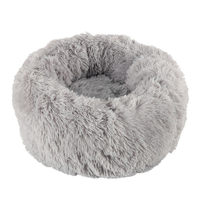 Round Plush Cat Bed 4