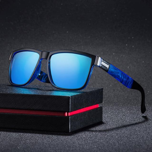 Fashion Wrap Square Frame Retro Polarized Sunglasses  1