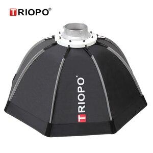 Image 3 - Triopo 65cm סטודיו Softbox נייד w/כוורת חיצוני Bowens הר אוקטגון מטריית וידאו צילום רך תיבת עבור Godox