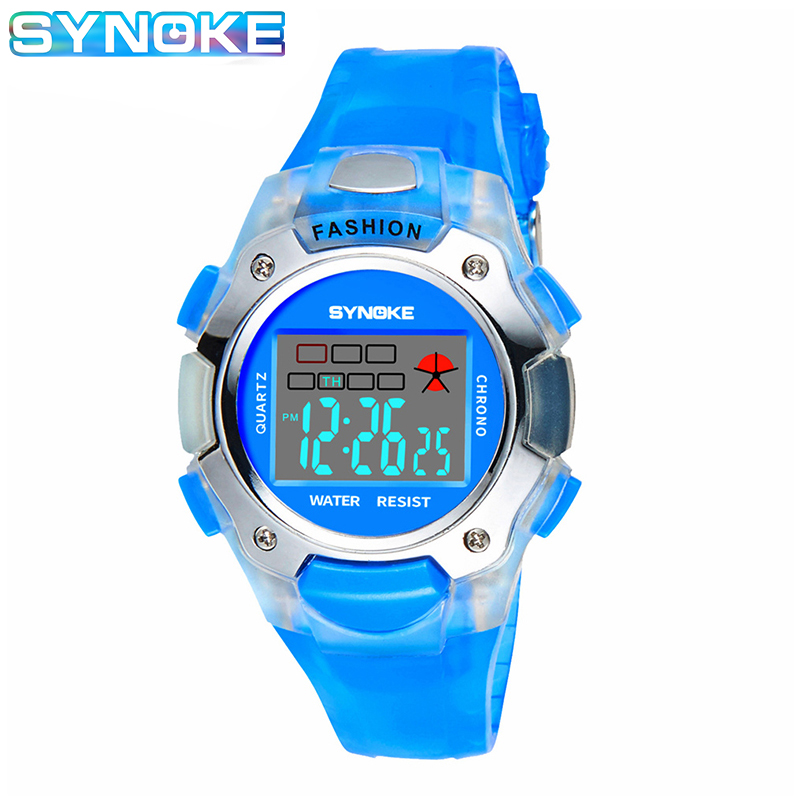 SYNOKE Factory Wholesale Children Watch Digital Watches Kids Waterproof 7 Colours LED Night Lights Multifunction Kids Watch