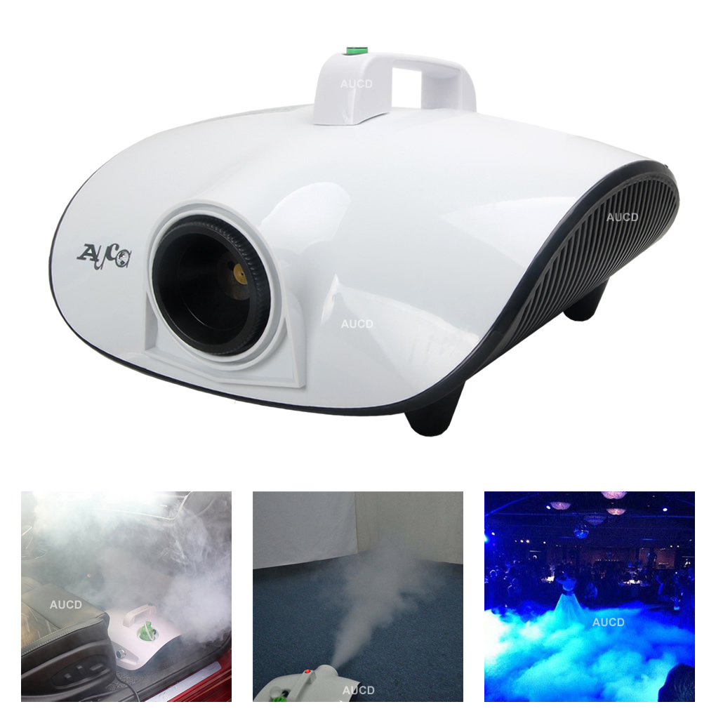 2in1 Multi 1500W Stage Smoke Fog Machine Atomization Disinfectant Home Office Car Auto Disinfection Sterilization Fogger Sprayer