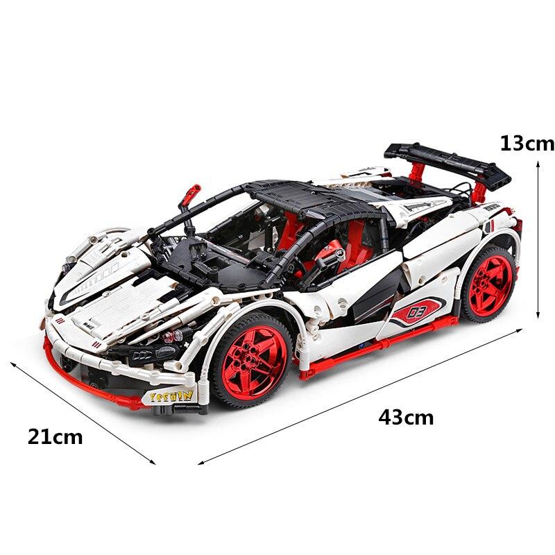 Image 5 - DHL 20087 APP Technic Car Series Compatible lepining MOC 16915 White Icarus Car Set Kids Building Blocks Bricks RC CarBlocks   -