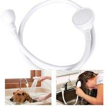 Única ampla torneira da pia do banho cabeça de chuveiro spray mangueira push on mixer cabeleireiro pet torneira do chuveiro extensão vaidade ferramenta