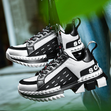 Unisex Chunky Sneakers Men Casual Shoes Breathable Mesh Air Cushion Walking